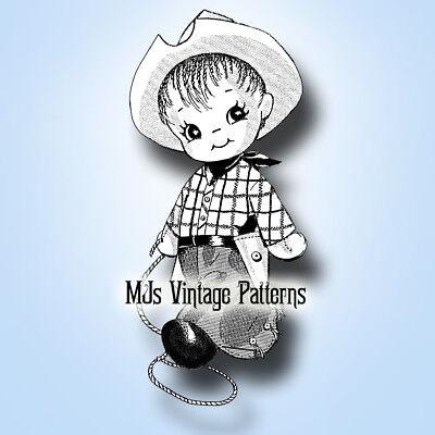 Cowboy /& Cowgirl #2 ~ Vintage Doll Pattern