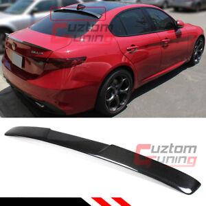 For 2017 19 Alfa Romeo Giulia Quadrifoglio Carbon Fiber Rear Window