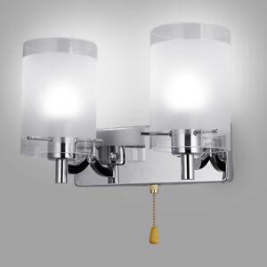 Image Is Loading Modern Led Gl Wall Light Lamp Home Bedroom