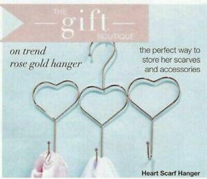 Avon-Heart-Scarf-Hanger-Holder-Rose-Gold-Gift-Brand-New-FREE-P-amp-P