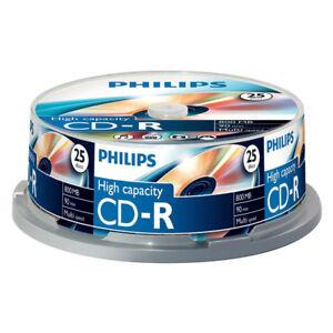 CD-R-52x-800MB-Philips-Alta-Capacidad-Tarrina-25-uds