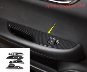 Carbon Fiber Interior window switch panel Tirm For Cadillac ATS ATS-L 2014-2018