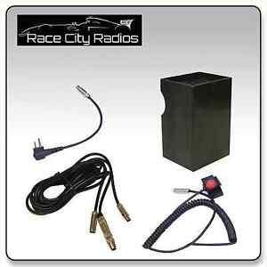 nascar race car wire harness for motorola velcro mount ptt switch radio box ebay