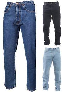 Hommes Coupe Standard Jambe Droite Jeans Décontracté Travail Pantalon Neuf 32-