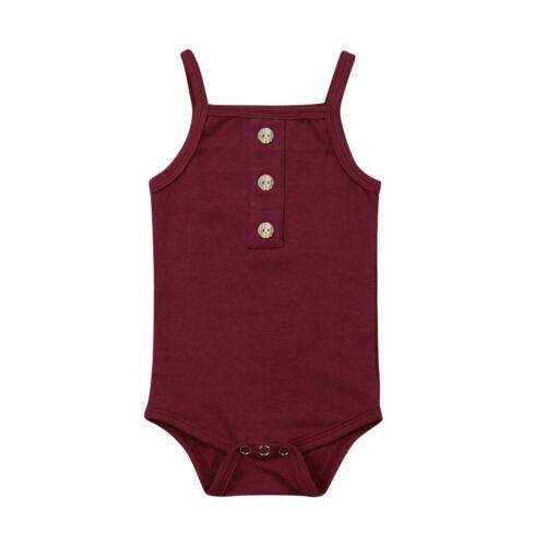 Newborn Kid Baby Girl Boy Summer Clothes Cotton Romper Jumpsuit Bodysuit Sunsuit