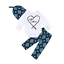 Newborn Kid Baby Boy 3pcs Clothes Jumpsuit Romper Bodysuit Pants Hat Outfits Set