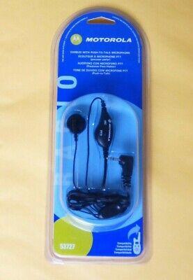 FBI Style Motorola 53727 2-WAY Radio Earbud Headset PTT MR350 T9500 MH230 EM1000