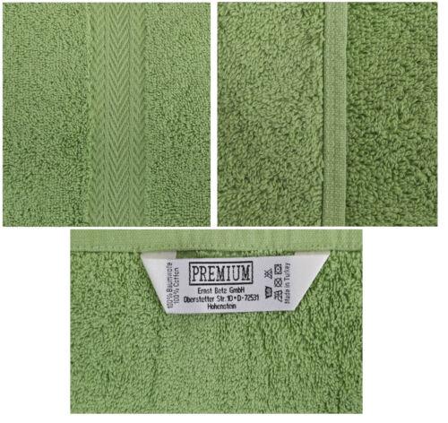 Betz 10 Stück Gästehandtücher Gästetuch PREMIUM 30x50cm apfelgrün /& smaragdgrün