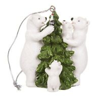 Licensed Coca Cola Polar Bear Family 4 Christmas Tree Hanging Ornament Coke Xmas