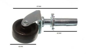 Roulettes Roue Simple Douille Fix 1 1/2 Pouces 40 Mm Pack De 100
