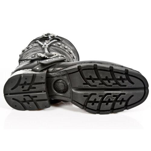 NEWROCK M.MR022 S1 Black Unisex New Rock Punk Gothic Biker Boots