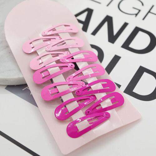 10pcs Cute Girls Baby Kids Children Hair Accessories Slides Snap Hair Clips