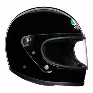 AGV-Legends-X3000-Gloss-Black-Classic-Retro-Full-Face-Free-Next-Day-UK-Delivery