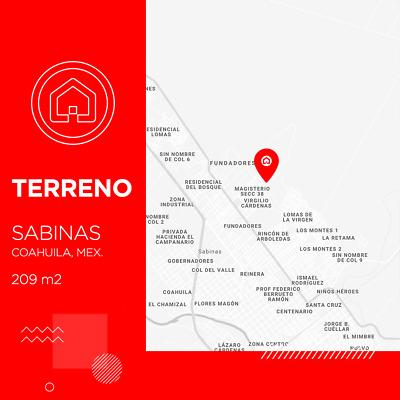 Terreno en Sabinas Coahuila