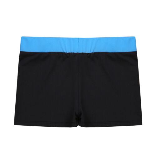 Girls Kids Stretch Hot Pants High Waist Dance Shorts Gym Workout Bottoms