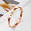 Rose-Gold-Silver-Plated-Stainless-Steel-Metal-Rivet-CZ-Crystal-Bangle-Bracelet thumbnail 15