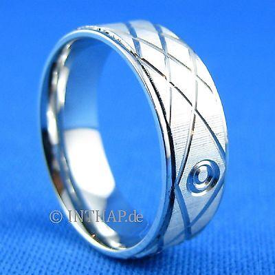 Ring - Edelstahlring - Fingerring Damenring Herrenring - Schmuck aus Edelstahl