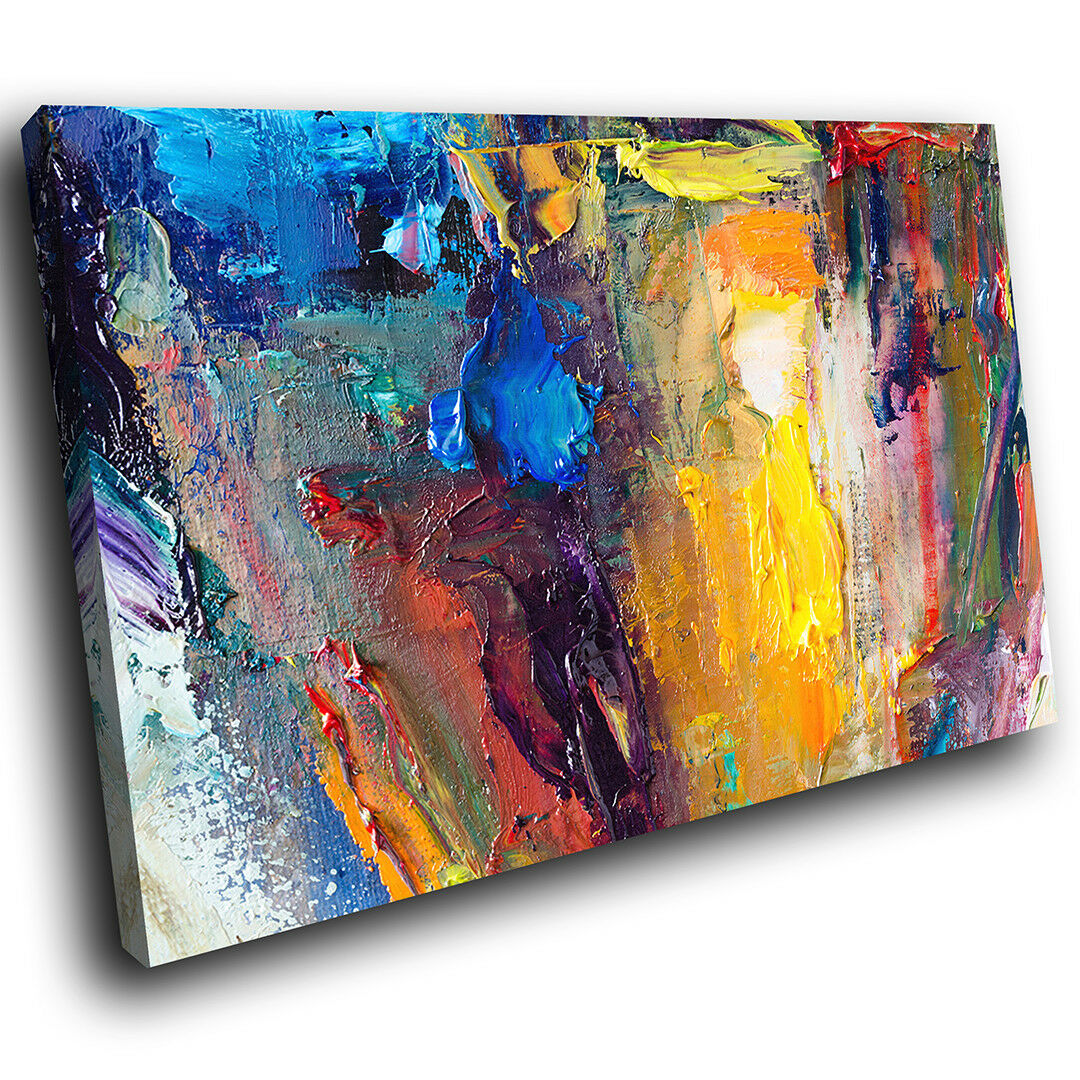 AB1432 Retro Colourful Cool Modern Abstract Canvas Wall Art Large Picture Prints