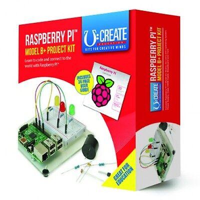 RPi B+ (B Plus) Project Kit  - V1.2 Boards -  512MB RAM, 4 x USB, 40 GPIO, HDMI.