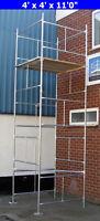 "DIY Scaffold Tower 5.2m (4' x 4' x 17'0"" WH) Galvanised Steel"