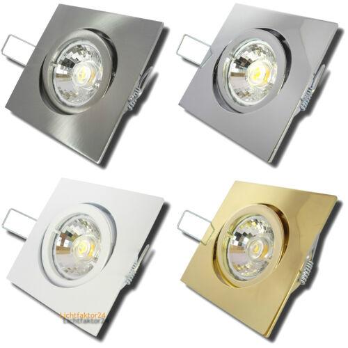 7W = 52W Power LED Deckenstrahler Square 230Volt Einbauspots DIMMBAR 450Lumen