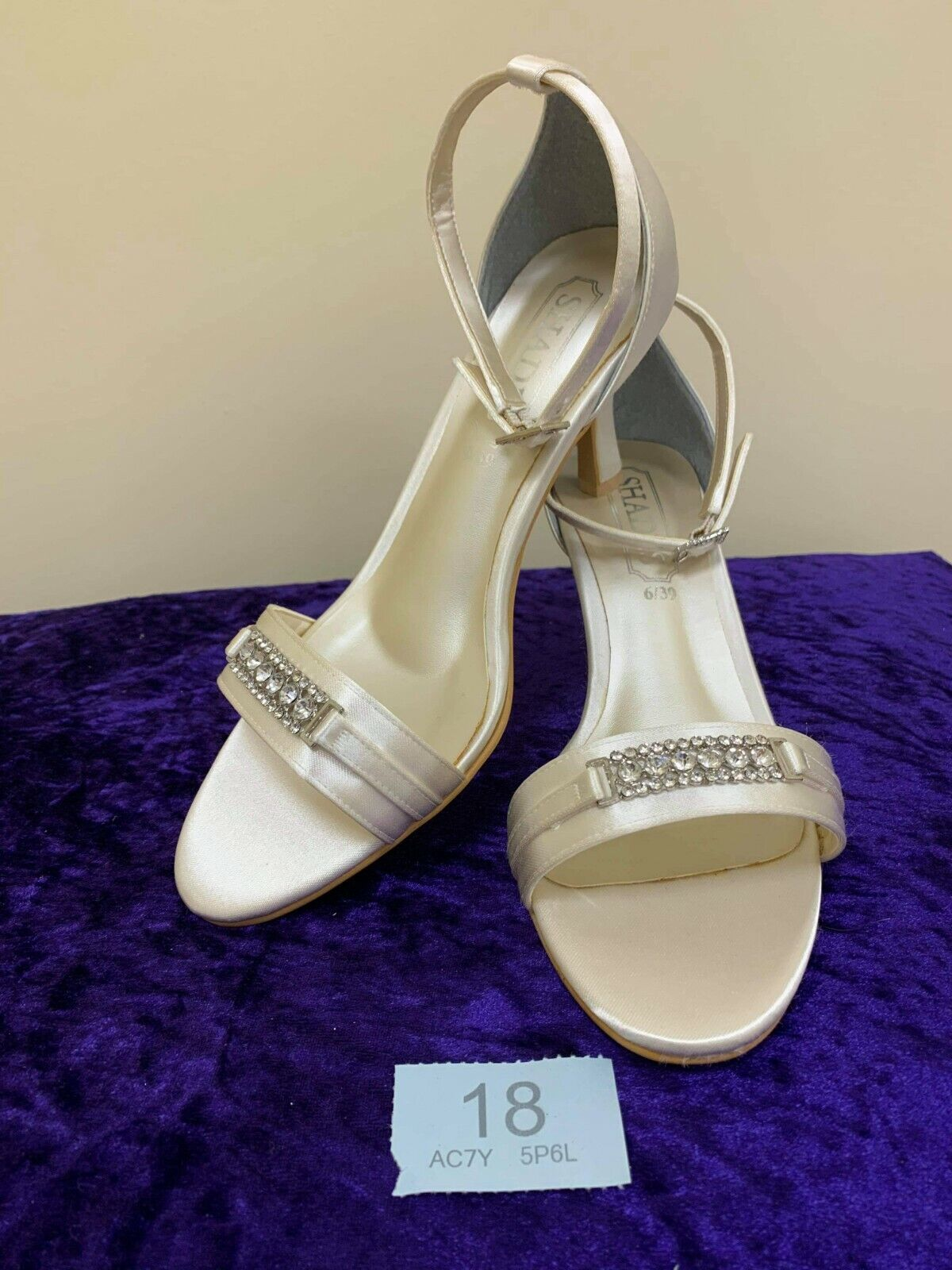 New in box shoes from Shades. Size 6 ivory style 711 code 18