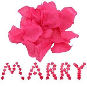 Pack Of 100 Fuchsia Fake Rose Petals Valentines Day Flower Wedding Confetti