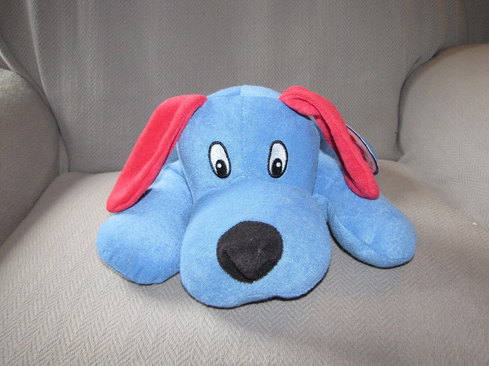 NANCO TERRYCLOTH TERRY STUFFED PLUSH PUPPY DOG blu rosso PV-TLD14 NEW