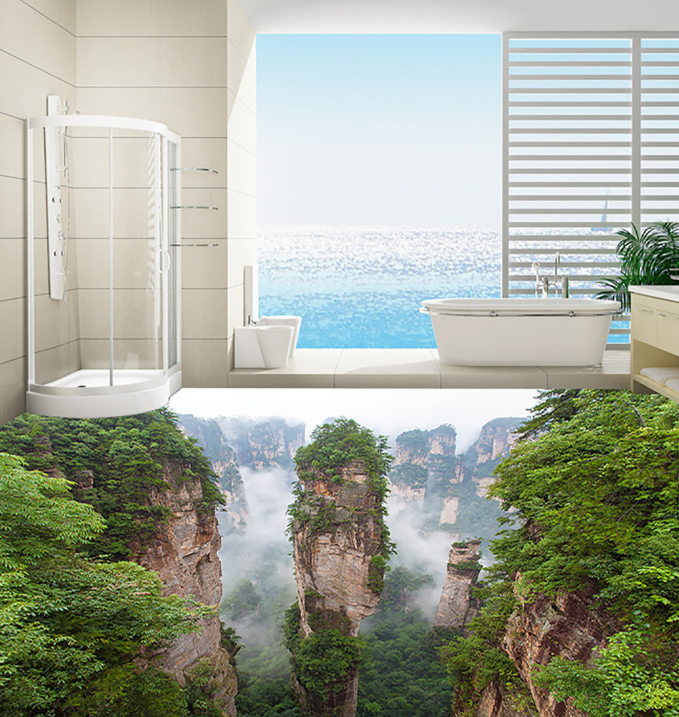 3D Castle Peak 41 Floor WallPaper Murals Wall Print 5D AJ WALLPAPER AU Lemon