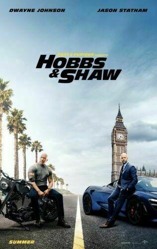 A516Art Silk Poster14x21 24x36 Fast /& Furious Hobbs /& Shaw Movie Jason Statham