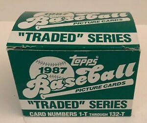 1987-Topps-Traded-Baseball-Series-Set-Cards-1-T-132-T-NIB-Greg-Maddux-Rookie