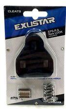 Exustar E-blk10 0° Float Road Bike Pedal Cleats Compatible With LOOK Keo Black
