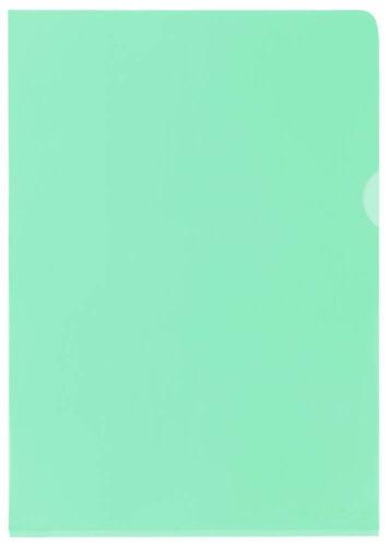 25er Pack ELBA Sichthüllen A4 PVC grün glatt