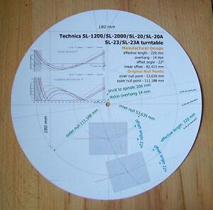 Technics-SL-1200-SL-2000-SL-20-SL-20A-SL-23-SL23A-Tonearm-Alignment-Protractor