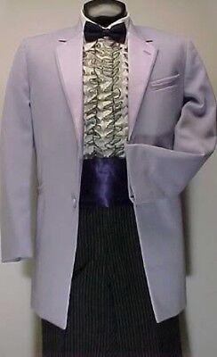 Retro Lavender Purple Andrew Fezza Tuxedo Jacket w// Vest /& Tie 80/'s Prom Wedding