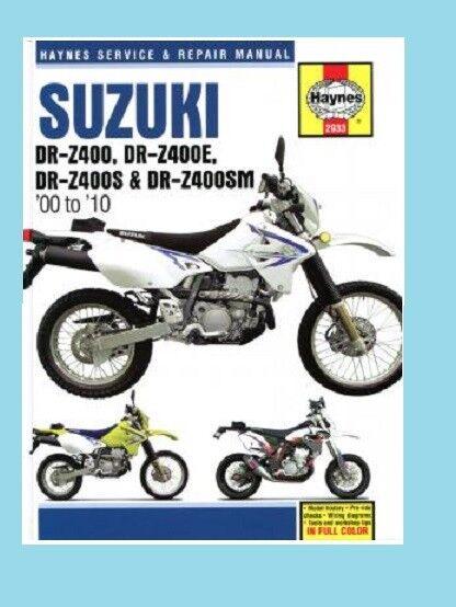 MAN2933 Manual de Taller Haynes Suzuki Drz DRZ400 DR-Z400 2000A 2010