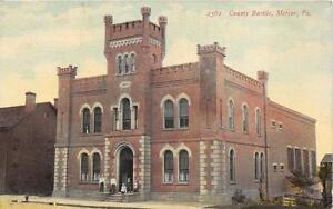 COUNTY BASTILE MERCER PENNSYLVANIA POSTCARD 1912