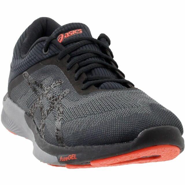 différemment a1711 f99a0 ASICS T718n 9097 Fuzex Rush Black / Tomato Men's Running Shoes Size 8 US