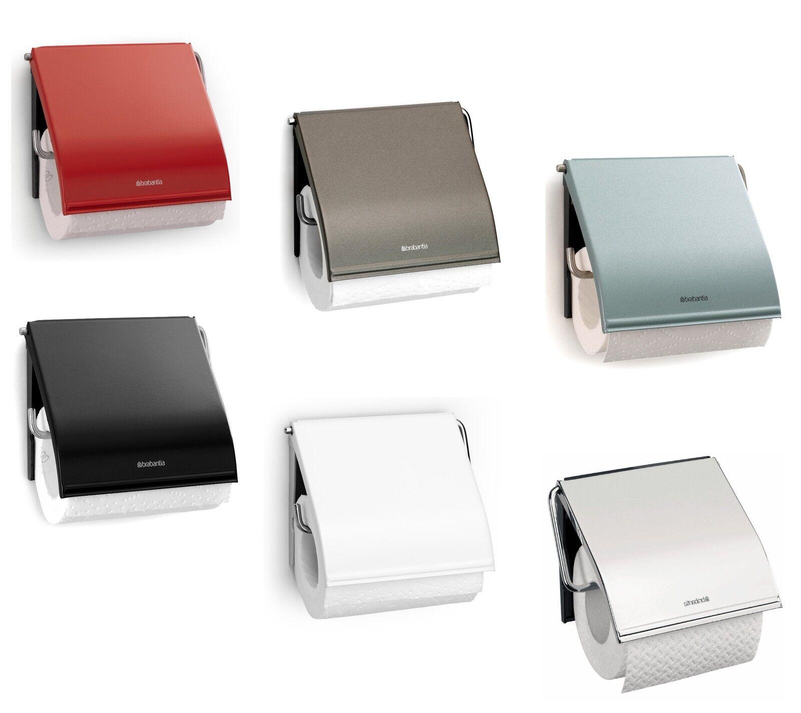 Brabantia Toilettenpapierhalter Klopapierhalter Halter Metall Klappe Platinum