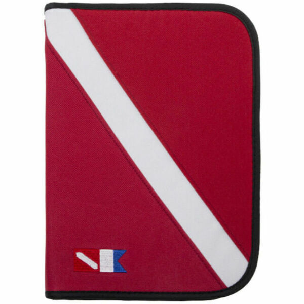 Trident 3-ring Zippered Dive Log Organizer Red With Diving