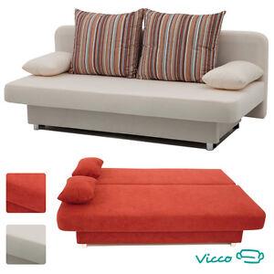 Vicco schlafsofa couch sofa orlando g stebett bett beige for Bett oder schlafsofa