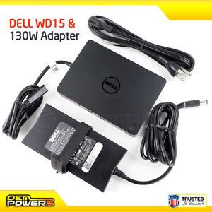 Genuine Dell WD15 USB Type-C Docking Station //w 130W AC Adapter