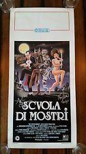 SIGNED x3 MONSTER SQUAD 1987 Original Italy Horror Movie Poster Locandina Auto