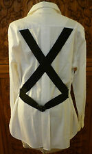 Excellent Jean Paul Gaultier blouse Tunic, white US 12