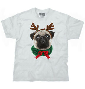 dd6e41b5d Details about Pug Dog Reindeer Ugly Christmas Sweater Funny Shirt Cute Gift T  Shirt Tee