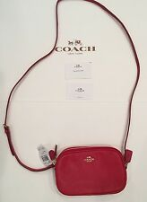 NWT Coach F65988 Pebbled Leather Crossbody Pouch RED Leather NEW