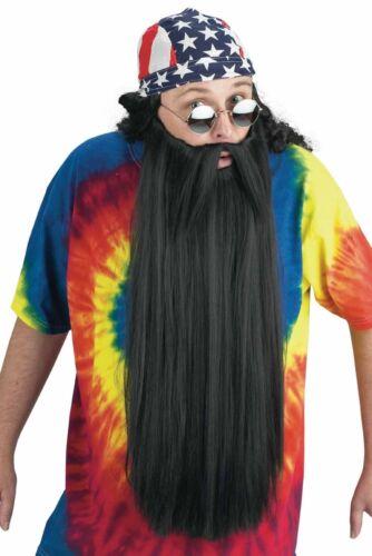 Adult Men/'s Duck Hunter Biker Wizard Old Man Halloween Costume Beard Mustache