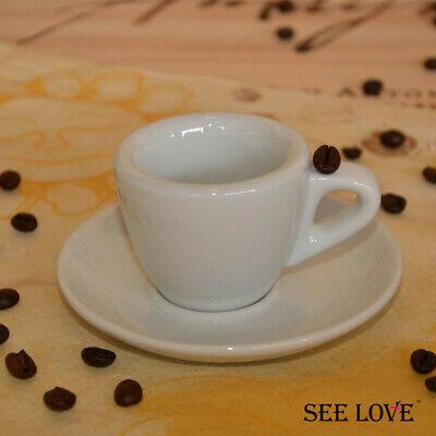 Espresso Cup Saucer Set Ceramic 56cc Italy Professional Porcelain Coffee Mug