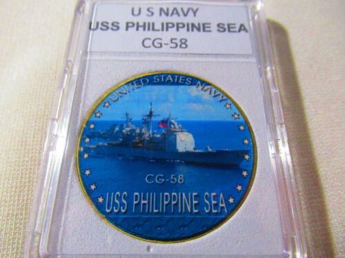 US NAVY USS PHILIPPINE SEA CG-58 Challenge Coin