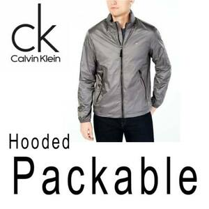 MENS-CALVIN-KLEIN-NYLON-RIPSTOP-JACKET-FULL-ZIP-HOODED-PACKABLE-REPEL-2XL-145